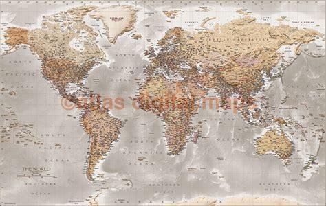 World Wall Map Canvas 60