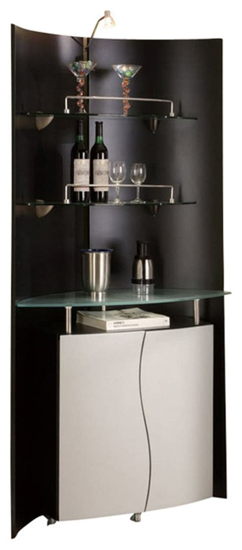 gardenweb kitchen cabinets m7442 black silver finish with glass shelves bar wall 1197