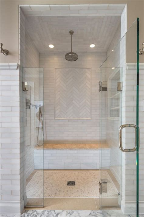 In Shower by The Master Bathroom For Features A Beautiful Walk In