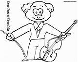 Violin Coloring Pages Fiddle String Colour Colorings sketch template
