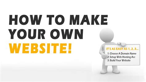 How To Make Your Own Website Youtube