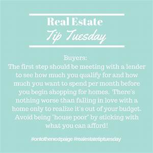 On To The Next Paige: Real Estate Tip Tuesday