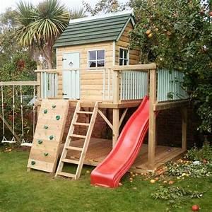 Spielhaus Garten Mit Rutsche : spielhaus idee mit rutsche kletterwand und schaukeln deko ~ Watch28wear.com Haus und Dekorationen
