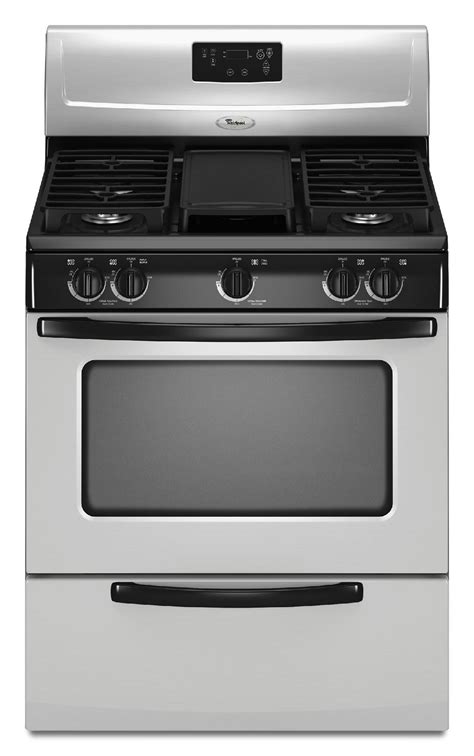 gas cooktop stove whirlpool wfg231lvs 4 4 cu ft gas range w griddle