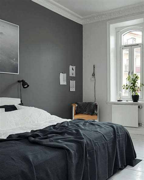 deco chambres look noir black and white decoration