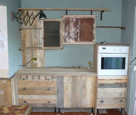amenagement meuble cuisine decoration cuisine en palette amenagement palette meuble