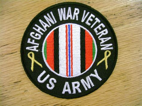 Afghanistan Army Military Vest Patch Motorcycle Biker