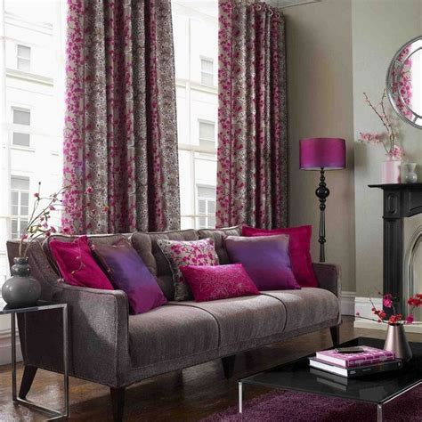 Grey And Purple Living Room Curtains by Contemporary Style Living Room In Charcoal Grey Orchid