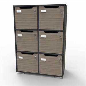 Meuble Casier Blanc : casier vestiaire en bois vestiaires collectifs pour professionnel 6 cases ~ Teatrodelosmanantiales.com Idées de Décoration
