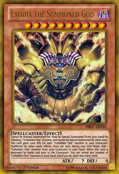 exodia the summoned god yugioh ocg by yeidenex on deviantart