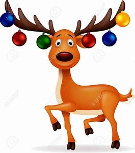 Reindeer With Christmas Lights Clipart - ClipartXtras