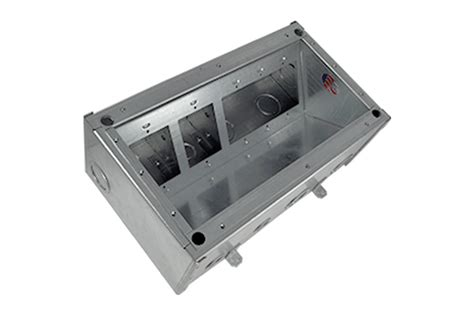 fsr 700 floor box fsr fl 700 b pass thru concrete floor pour box 5 1 4