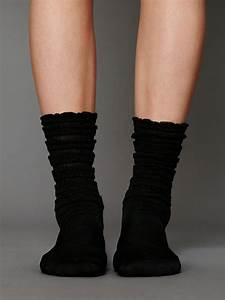 free ruffle satin ankle socks in black lyst