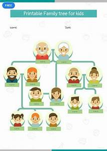 Family Tree Poster Project Free Printable Family Tree For Kid 39 S Family Tree For
