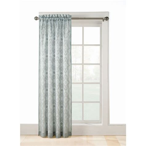 light filtering sheer curtains shop style selections 84 in mineral polyester rod