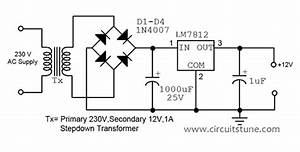 12v Regulated Power Supply Circuit Diagram