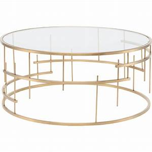 round glass coffee table gold coffee table design ideas With gold metal and glass coffee table