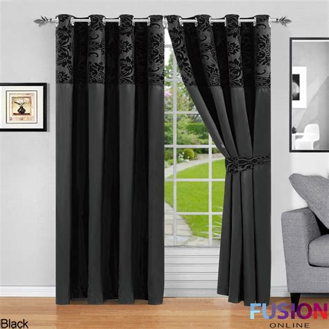 damask curtains ring top fully lined pair eyelet ready