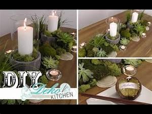 Deko Zum Selber Machen : diy coole tischdeko im naturlook selber machen deko kitchen youtube ~ Watch28wear.com Haus und Dekorationen