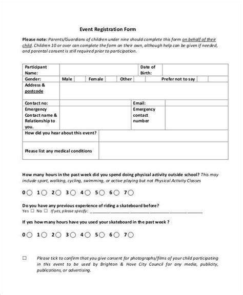 free 38 registration form templates