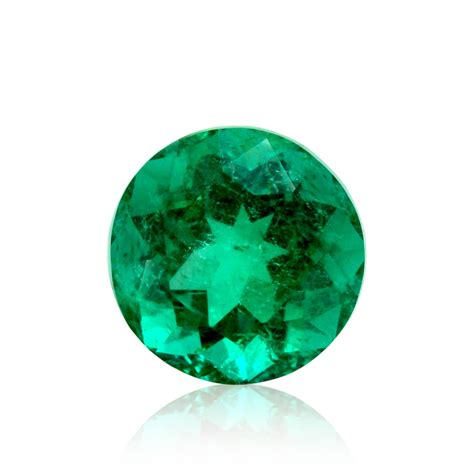 carat green colombian emerald  shape minor