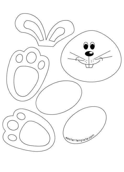 easter bunny cut out template 89047 17 best images about easter on pinterest crafts basteln