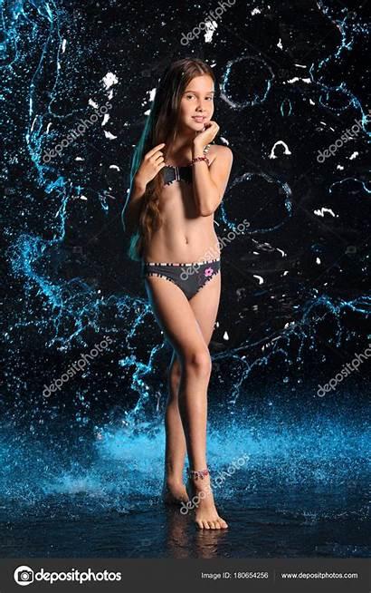 Pretty Young Teenage Attractive Teen Bikini Swimsuit