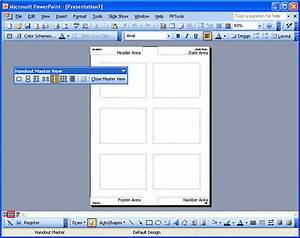 handout masters in powerpoint 2003 powerpoint tutorials With powerpoint handout template