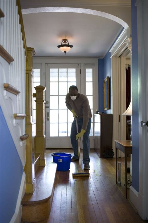 mopping  stock photo  african american man