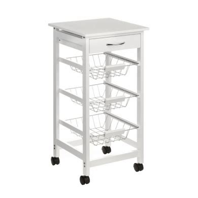 kitchen trolley storage kitchen storage trolley with 1 drawer wire baskets 3395