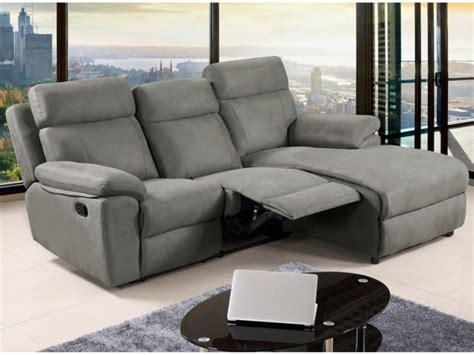 canap de relaxation canapé d 39 angle relax en tissu gris ou caramel artuki