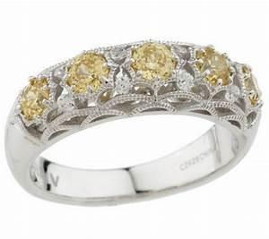 tacori iv diamonique epiphany five stone crescent ring With tacori wedding rings qvc