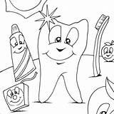 Coloring Dental Pages Hygiene Printable Getcolorings sketch template
