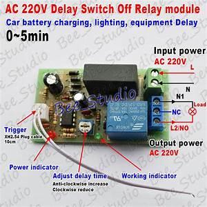Ac 220v 230v 240v Trigger Delay Timer Switch Turn Off
