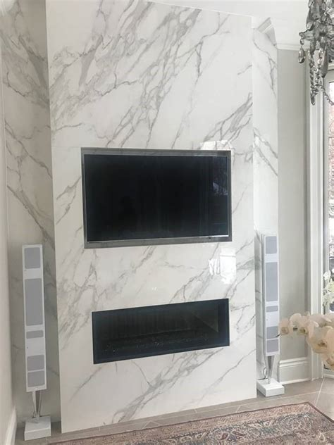 Fireplace: Neolith Calacatta   Marble Trend   Marble
