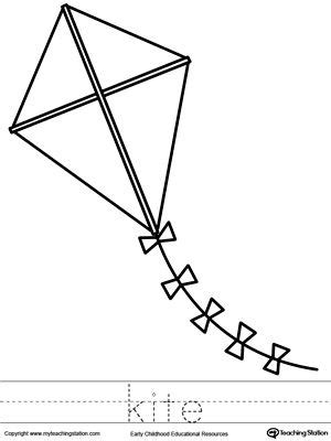 kite coloring page  word tracing frog coloring pages