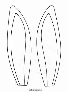 dog ears easter bunny coloring pages coloring pages of With template for dog ears
