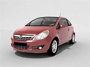 Opel Corsa mini car 3d model 3ds Max files free download