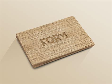 card visit template psd wood wood business card template psd smart object