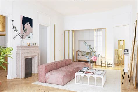 Scandinavian Cool Simplicity With Feminine Parisian Sophistication by The Power Of Pink Interiors How To Spend It