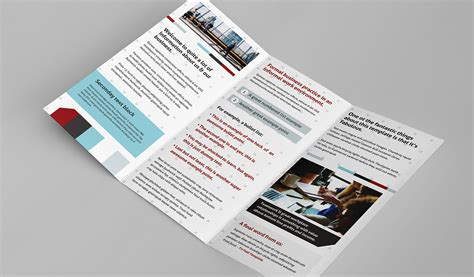 trifold brochure template  photoshop illustrator