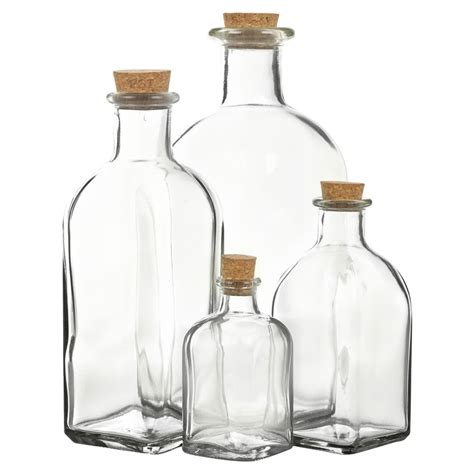glass stopper bottles 3 6 9 12 glass bottle jars vials cork lid stopper kitchen 1241