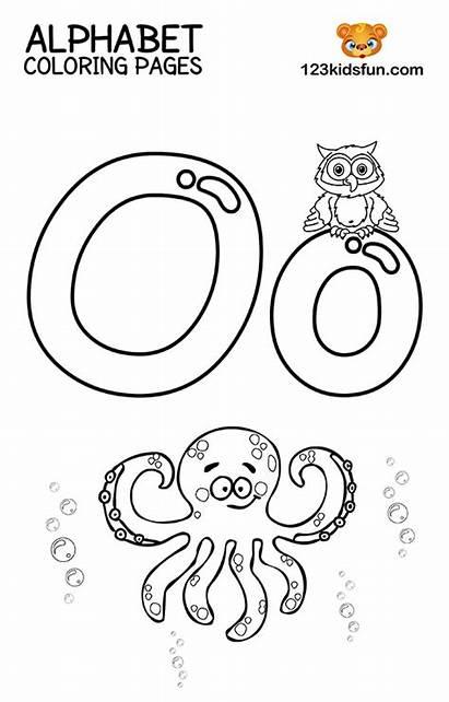 Coloring Alphabet Printable Preschool Letter Letters 123kidsfun