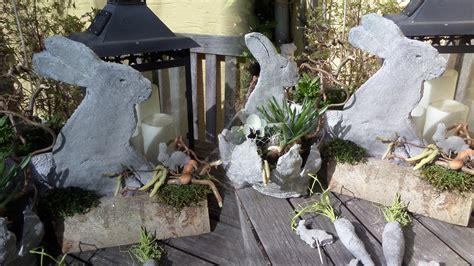diy knet beton deko hase auf brennholz selber machen leicht gemacht how to