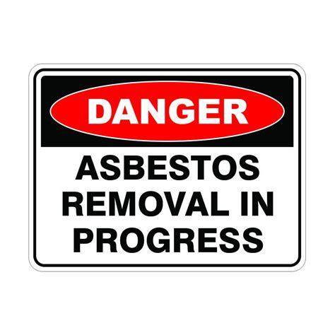 signviz powder coated metal danger   cm asbestos