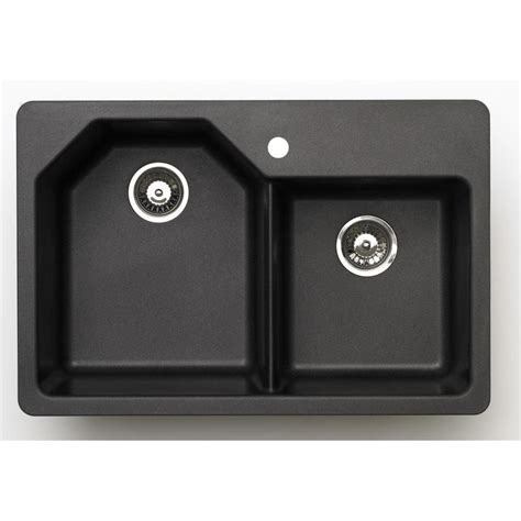 33 X 22 Black Kitchen Sink by Shop 22 In X 33 In Metallic Black Basin