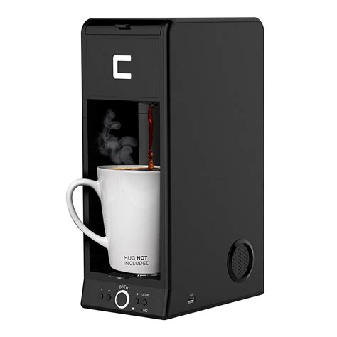 Single serve machines, however, are pretty standard in this regard. Chefman 1-Cup Bluetooth Enabled Single Serve Coffee Maker-RJ14BUZZBLK - The Home Depot