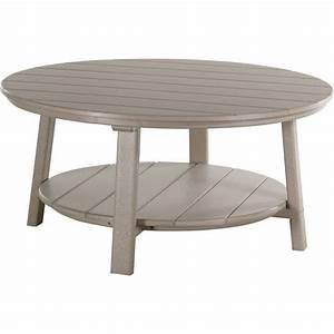 Poly Deluxe Round Conversation Table