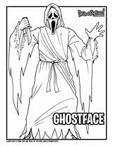 Ghostface Scream Drawing Draw Colouring Coloring Too Drawittoo Tutorial sketch template