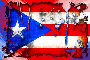 Grunge And Splatter Puerto Rico Flag Digital Art by David